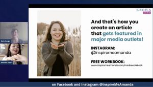 Amanda Rivera on KNOWN Live teaching how to get featured in major media outlets